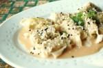 Les minis dumplings sauce à l'arachide