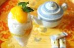 Le dessert de tapioca à la mangue